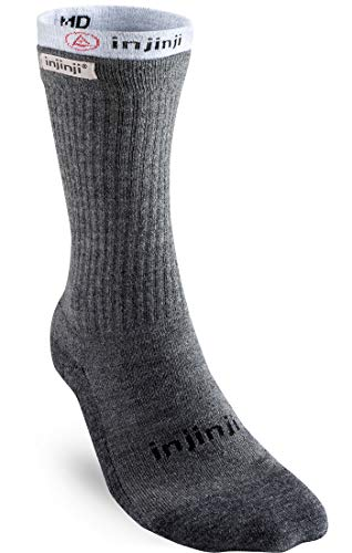 Injinji Mens Liner+Hiker Socks Charcoal 37-44