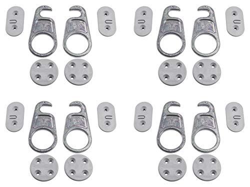 Gedotec Möbelverbinder LOCK Tischplatten-Verbinder trennbar Arbeitsplatten-Verbinder | Verbinder für Büro-Tisch - Möbel | Stahl verzinkt | Bauhöhe 9,1 mm | 4 Set - Holz-Verbinder Metall zum Schrauben