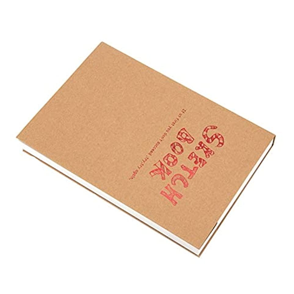 準備マーチャンダイザーアイドルプロ品質 ペイントペーパースケッチブックスケッチブックメモ帳アーティストスケッチ描画デザイン120枚ビンテージスケッチブック日記描画ノート、サイズ:A5。 学生メモ、オフィスノート