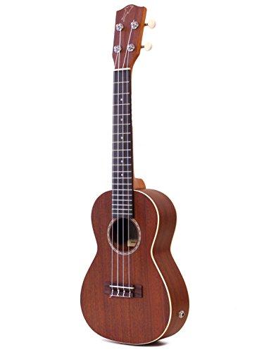 Mahimahi ukulele concerto amplificato con piano armonico in mogano massello EQ