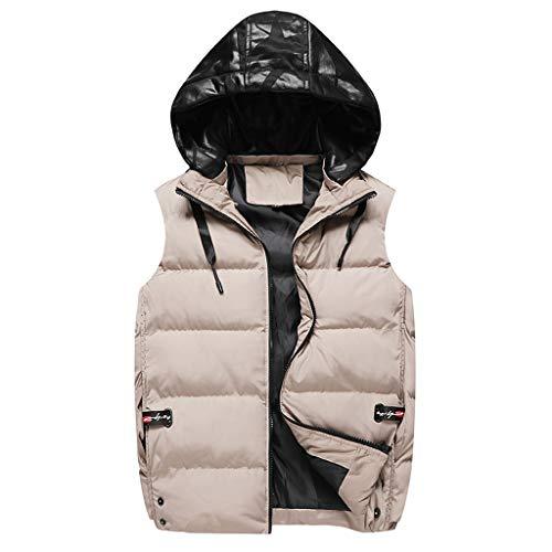POachers Homme Veste Gilet Casual Chaud Doudoune Vest sans Manche Manteau Sweats à Capuche Blouson Zipper Automne Hiver M-4XL