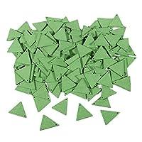 #N/A 10個/個天然木トライアングルペンダントにこのMultiltyerイヤリングチャームの調査結果 - 緑19mm