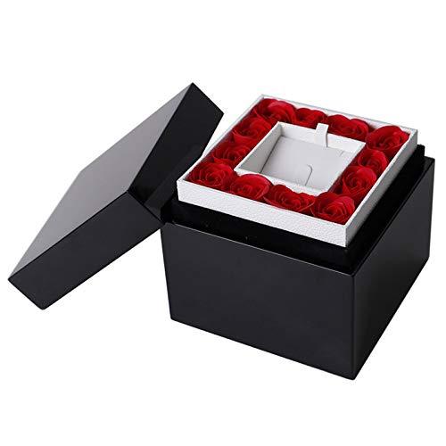 TWW Pintar Joyero, Collar, Anillo, Caja De Flores, Caja De Regalo, Caja De Almacenamiento De Joyería De Reloj, Adecuado para El Día De San Valentín
