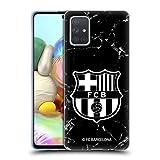 Head Case Designs Licenciado Oficialmente FC Barcelona Mármol Negro Crest Patterns Carcasa de Gel de Silicona Compatible con Samsung Galaxy A71 (2019)