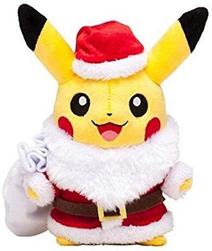 N-L Santa Claus Pikachu Plush Toy 25Cm Cute Pikachu Cosplay Santa Claus Stuffed Soft Dolls Toy for Kids