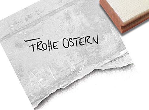 Stempel Osterstempel Frohe Ostern, Handschrift - Textstempel Osterfest Osterpost Karten Geschenkanhänger Osterdeko Tischdeko Scrapbook - zAcheR-fineT