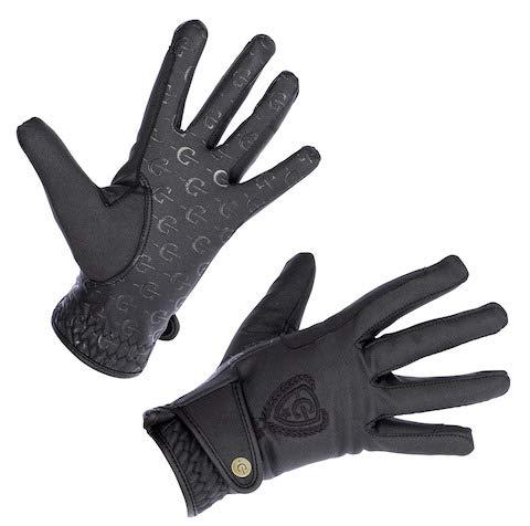 Kerbl Winter Reithandschuh Mora Thinsulate Fleece Handschuh mit Zügelverstärkung, schwarz, M