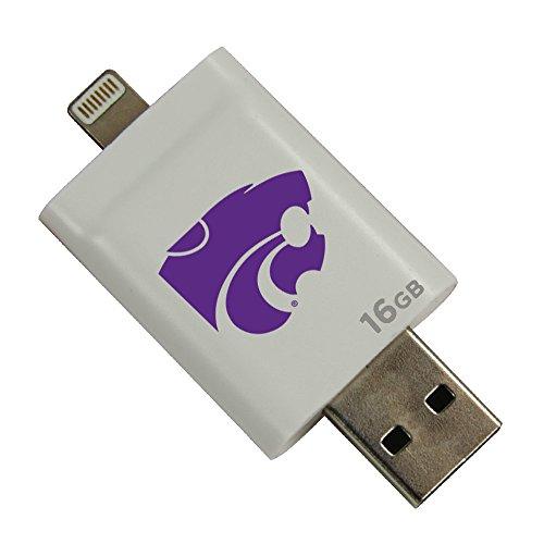 Kansas State Wildcats i-FlashDrive HD USB Drive 16GB - White