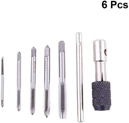 Rosca Métrica 5 piezas Roscar Herramienta 3 mm 4 mm 5 mm 6 mm 8 mm M3-M8 Alta Velocidad Acero para Crear Roscas de Tornillo en Madera Plástico Aluminio u Otros Materiales Blandos
