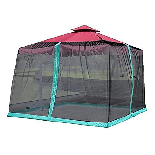 Gazebo Tabel Carpa con Mosquitera, Patio Paraguas Funda Mosquito, Tienda de Sombra Camping, Pantalla de mesa de sombrilla de jardín al aire libre para patio, patio trasero