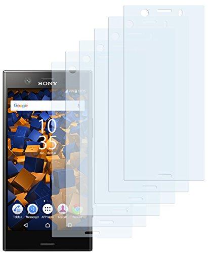 mumbi Schutzfolie kompatibel mit Sony Xperia XZ1 Compact Folie klar, Displayschutzfolie (6X)