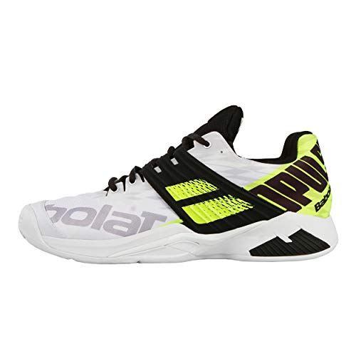 Babolat Hommes Propulse Fury Clay Chaussures De Tennis Chaussure Terre Battue Blanc - Noir 44,5