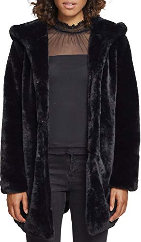 Urban Classics Ladies Hooded Teddy Coat, Farbe black, Größe M