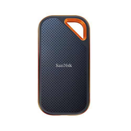 SanDisk 2TB Extreme PRO Portable SSD - Up to 2000MB/s - USB-C, USB 3.2 Gen 2x2 - External Solid State Drive - SDSSDE81-2T00-G25