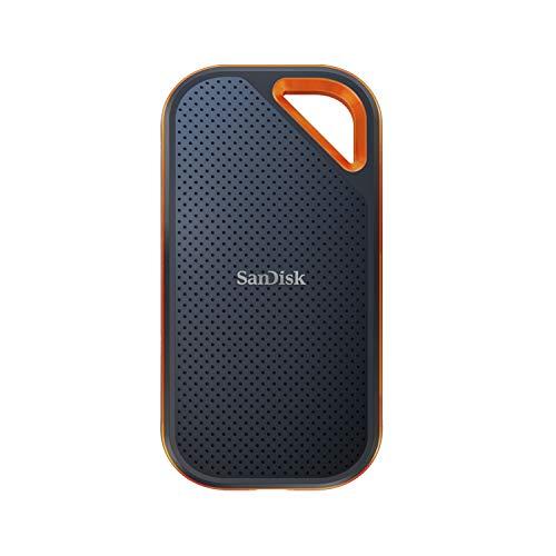 SanDisk Extreme PRO SSD portátil de 1TB - NVMe, USB-C, cifrado por hardware, hasta 2000MB/s, resistente al agua y al polvo