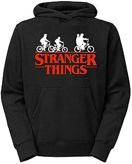 Moletom Unissex Canguru Stranger Things Preto