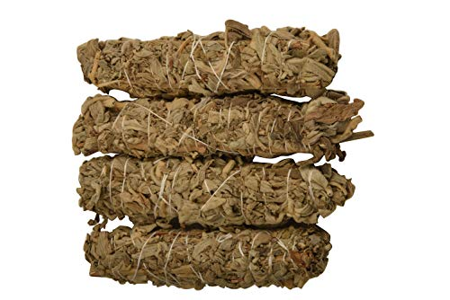 Blessfull Healing California White Sage 6 Inches Smudge Sticks/Use for Home Cleansing, and Fragrance, Meditation, Smudging Rituals- 4 Pack