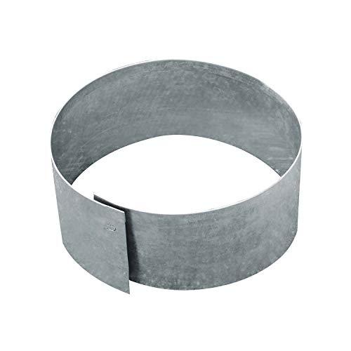bellissa Rasenkante Kreis Ø 40 cm H13 cm verzinkt feuerverzinkt, silberfarbig - rund - Mit patentierter Verbindungstechnik