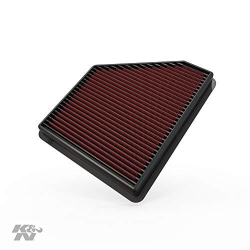K&N 33-2434 Motorluftfilter: Hochleistung, Prämie, Abwaschbar, Ersatzfilter, Erhöhte Leistung, 2010-2015 SS, Camaro ZL1