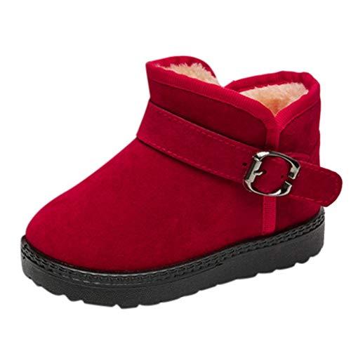 WEXCV Unisex Winterschuhe Baby Kinder warme Jungen Mädchen Sneaker Einfarbig Stiefel Schnee Plus Samt Baby Casual ruschfeste Sohle Babyschuhe Bootie