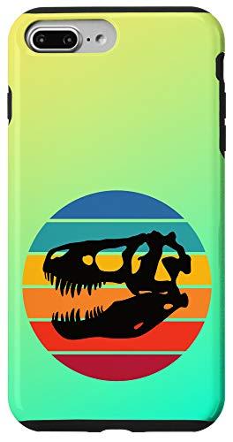 iPhone 7 Plus/8 Plus Rainbow Sunset Dinosaur Skull Silhouette Cute Retro Case
