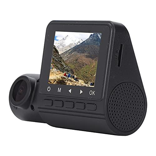 Annjom Grabadora de conducción 1080P, cámara de salpicadero antirrobo Duradera de Doble Lente de 2 Pulgadas con Vista Trasera Nocturna para Coches