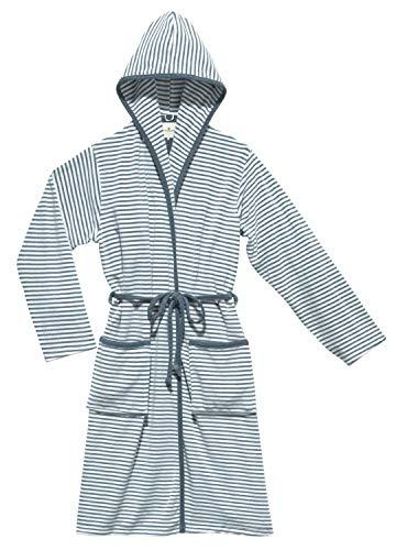 TOM TAILOR 0100304 Bademantel Stripe Frottier Größe XS, jeans blue