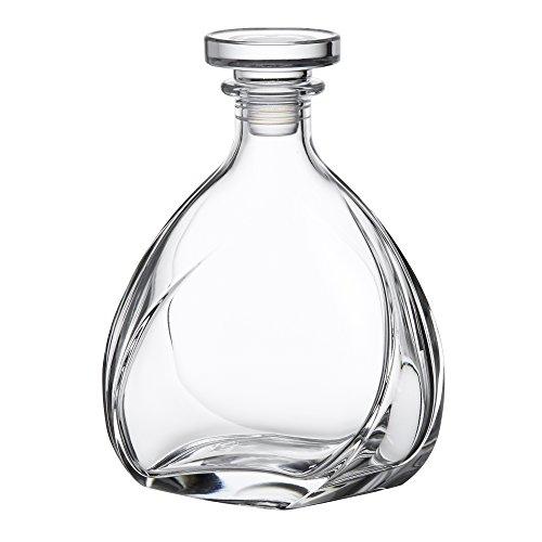 AMAVEL Edle Whiskykaraffe Lismore, mit luftdichtem Verschluss, Design Whiskey Karaffe aus Glas, Füllmenge: ca. 700 ml