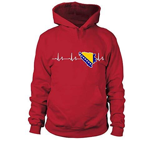 Kapuzenpullover Bosnien-Herzegowina Shirt/Herzschlag BIH/Bosnisch/Bosnier