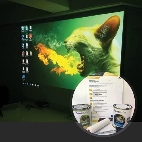 Pittura Proiettore Smart Pro - Vernice di Proiezione 6m² Bianca - Risoluzione 4K - Gain Value 1.1 *CONSEGNA ESPRESSA GRATUITA*