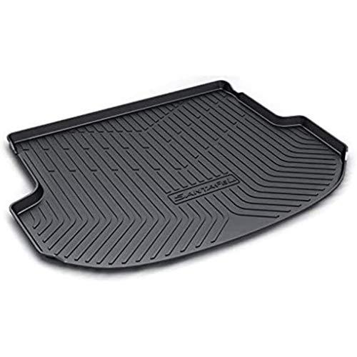 ZYLFP Boot Trunk Mats For Hyundai Santafe 2015-2018(New 5 Seats), Rubber Non-Slip Dust-Proof Floor Mats Car Accessories