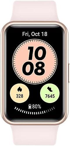 HUAWEI Watch FIT, Nouvelle Montre connectée, Ecran 1.64 Pouces, 97 Modes d'entraînement,10 Jours d'autonomie, Rose + ...