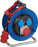 Brennenstuhl Garant CEE 1 IP44 Kabeltrommel (CEE-Kabeltrommel mit 30m Kabel in schwarz, aus Spezialkunststoff, für den ständigen Einsatz im Außenbereich, Made in Germany)