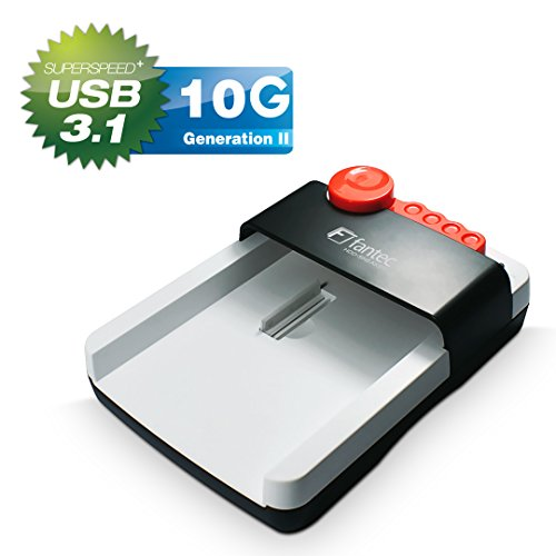 FANTEC HDD-Sneaker dockingstation SATA I/II/III harde schijven en SSDs, USB 3.0 SUPERSPEED aansluiting, incl. back-up software) wit USB 3.1. wit