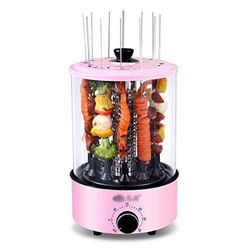 NO BRAND Asador de Vertical Giratorio, Parrilla Eléctrica Inteligente para Barbacoa Máquina de Kebab Giratoria Automática Sin Humo Encimera Kabob Grill, 1100W - 12 Cuerdas