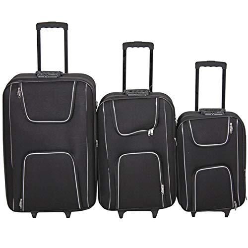Trolley-Set Kofferset Koffer 3tlg schwarz klein mittel groß Reisekoffer Reisetasche Urlaub Trolley NEU