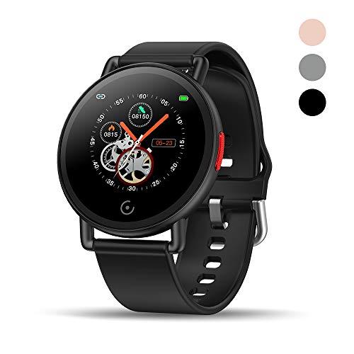 Walkercam Fitness Tracker, 1,3 Zoll Touchscreen, Schrittzähler Uhr mit Pulsuhr und Schlafmonitor, Schwarz