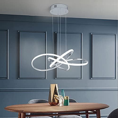 Led Lámpara Colgante Moderna Lámpara de Techo Regulable con Control Remoto Lámpara Colgante de AcríLico Sin Reflejos Lámpara ce ArañA Ajustable En Altura para Mesa de Comedor[Clase EnergéTica A ++]