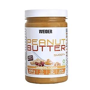 Weider Mantequilla De Cacahuete natural sin azúcares añadidos y aceite de palma, 400g