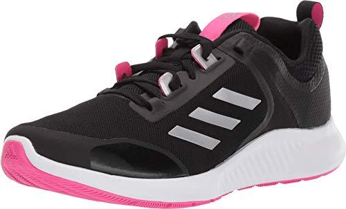 adidas Women's Edgebounce 1.5 Running Shoe, Black/Silver Metallic/Shock Pink, 7.5 M US