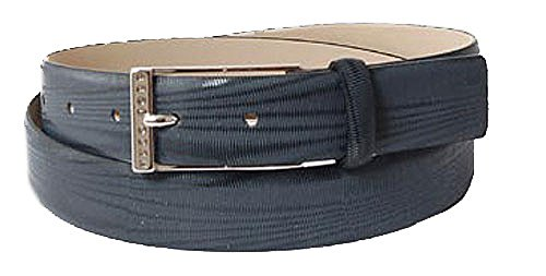 BOSS Ceinture homme men's belt leather black grey 34