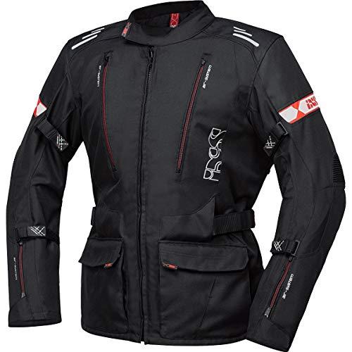 IXS Motorradjacke mit Protektoren Motorrad Jacke Lorin-ST Textiljacke schwarz/rot 3XL, Herren, Tourer, Ganzjährig, Polyester