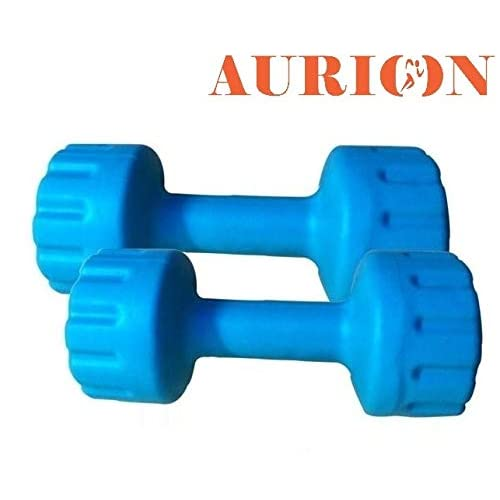 4228df38616 Aurion Set of 2 PVC Dumbbells Weights Fitness Home Gym Exercise Barbell for  Women   Men s