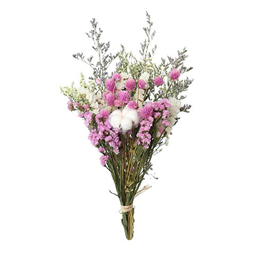 Baoblaze Flores secas Ramo de Flores Rosas de algodón, Margaritas, Plantas secas, Flores Ornamentales, Flores Hechas a Mano para DIY, florero casero, Boda, Rosa