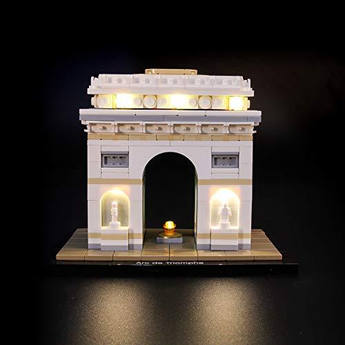 BRIKSMAX Led Beleuchtungsset für Lego Architecture Arc De Triomphe, Kompatibel Mit Lego 21036 Bausteinen Modell - Ohne Lego Set
