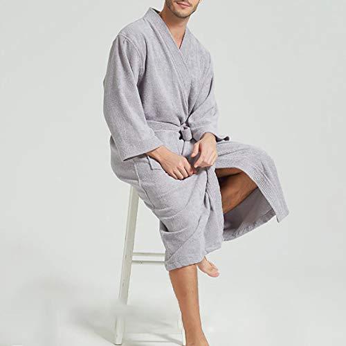 YUYAXPB Luxe Dames Robe Terry Towelling Katoen Dressing Badjas Zeer Absorberend Badpak met Riem en Pocket Koppels Badjas Gift