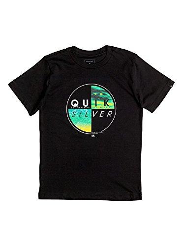 Quiksilver Boys' Big Short Sleeve Graphic Tee, Black, XL/16