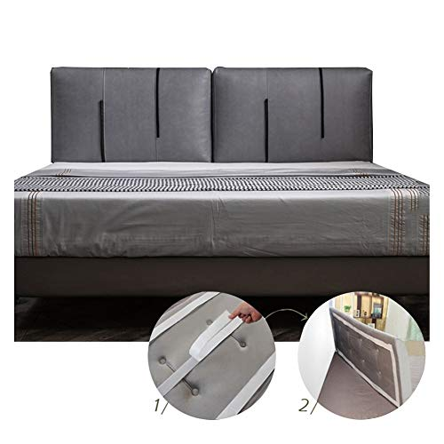 LIANGJUN Cabecero Cojines Respaldo Grande Almohada Cojín De La Cama, Pared Anti Choques Doble Respaldo Soporte for La Espalda Dormitorio Hotel, for Cama Sin Cabecera (Color : Gray, Size : 200cm)