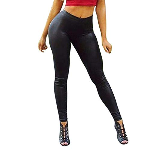 Yogabroek Dames Leder Yoga Legging Bottom Gym Leggings Gekleurde Hip-up Bomb Slim Broek van negen minuten Running Fitness