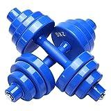 Pesas Dumbbell Set Home Fitness Equipment Pesss Ajustable Mancuerna Ejercicio y Gimnasio Mancuernas 1 par Aptitud Física (Color : Blue, tamaño : 15kg (7.5 kg*2))